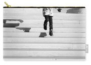 Young Child Jumping Down Steps Carry-all Pouch