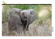 Young Elephant In The Light, Africa Wildlife Carry-all Pouch