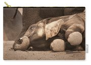 Young Elephant Lying Down Carry-all Pouch