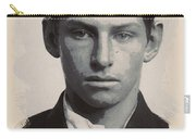 Young Faces From The Past Series By Adam Asar - Asar Studios, No 3 Carry-all Pouch