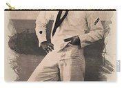 Young Faces From The Past Series By Adam Asar, No 100 Carry-all Pouch