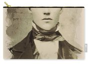 Young Faces From The Past Series By Adam Asar, No 101 Carry-all Pouch