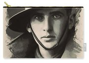 Young Faces From The Past Series By Adam Asar, No 104 Carry-all Pouch