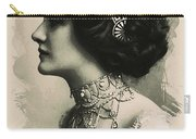 Young Faces From The Past Series By Adam Asar, No 105 Carry-all Pouch
