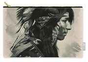 Young Faces From The Past Series By Adam Asar, No 108 Carry-all Pouch