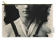 Young Faces From The Past Series By Adam Asar, No 110 Carry-all Pouch