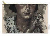 Young Faces From The Past Series By Adam Asar, No 112 Carry-all Pouch