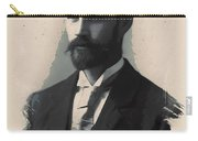 Young Faces From The Past Series By Adam Asar, No 113 Carry-all Pouch