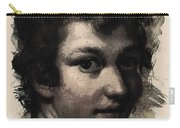 Young Faces From The Past Series By Adam Asar, No 116 Carry-all Pouch