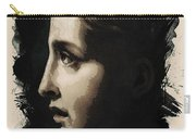 Young Faces From The Past Series By Adam Asar, No 117 Carry-all Pouch