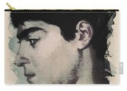 Young Faces From The Past Series By Adam Asar, No 14 Carry-all Pouch