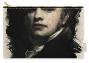 Young Faces From The Past Series By Adam Asar, No 25 Carry-all Pouch