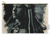 Young Faces From The Past Series By Adam Asar, No 26 Carry-all Pouch