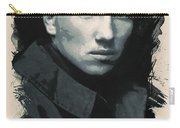 Young Faces From The Past Series By Adam Asar, No 33 Carry-all Pouch