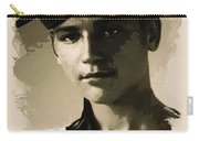 Young Faces From The Past Series By Adam Asar, No 39 Carry-all Pouch