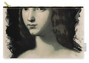 Young Faces From The Past Series By Adam Asar, No 5 Carry-all Pouch