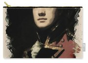 Young Faces From The Past Series By Adam Asar, No 56 Carry-all Pouch