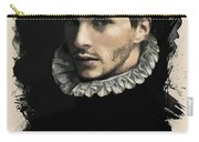 Young Faces From The Past Series By Adam Asar, No 59 Carry-all Pouch