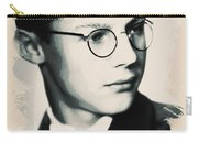 Young Faces From The Past Series By Adam Asar, No 60 Carry-all Pouch