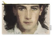 Young Faces From The Past Series By Adam Asar, No 61 Carry-all Pouch