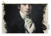 Young Faces From The Past Series By Adam Asar, No 64 Carry-all Pouch
