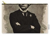 Young Faces From The Past Series By Adam Asar, No 65 Carry-all Pouch