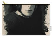 Young Faces From The Past Series By Adam Asar, No 67 Carry-all Pouch