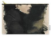 Young Faces From The Past Series By Adam Asar, No 68 Carry-all Pouch
