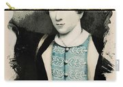 Young Faces From The Past Series By Adam Asar, No 71 Carry-all Pouch