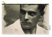 Young Faces From The Past Series By Adam Asar, No 73 Carry-all Pouch
