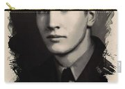 Young Faces From The Past Series By Adam Asar, No 89 Carry-all Pouch