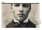 Young Faces From The Past Series By Adam Asar, No 96 Carry-all Pouch