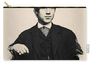 Young Faces From The Past Series By Adam Asar, No 97 Carry-all Pouch