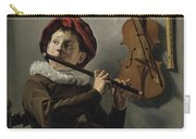 Young Flute Player , Judith Leyster, 1630 Carry-all Pouch