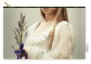 Young Girl Holding Lavender Carry-all Pouch