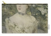 Young Girl In A Ball Gown By Berthe Morisot Carry-all Pouch