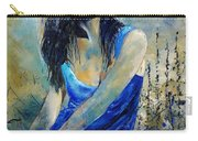 Young Girl In Blue Carry-all Pouch