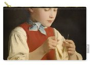 Young Girl Knitting Carry-all Pouch
