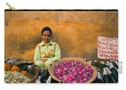 Young Girl Selling Rose Petals In The Medina Of Fes Morroco Carry-all Pouch