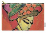 Young Girl With A Flowered Hat By Alexei Jawlensky Carry-all Pouch