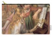 Young Girls At The Piano Carry-all Pouch by Pierre Auguste Renoir