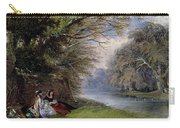 Young Ladies By A River Carry-all Pouch