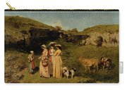 Young Ladies Of The Village By Gustave Courbet, 1851-1852 Carry-all Pouch