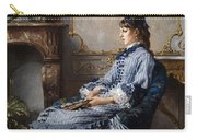Young Lady At The Fireplace Carry-all Pouch