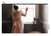 Young Lady In Pink Gown Looking Out Window Carry-all Pouch