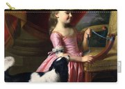 Young Lady With A Bird And A Dog Carry-all Pouch