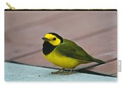Young Male Hooded Warbler 6 Carry-all Pouch