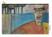 Young Man And The Sea With Trees Carry-all Pouch