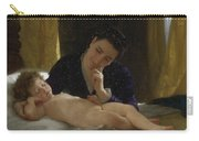 Young Mother Child Contemplating Adolphe William Bouguereau Carry-all Pouch