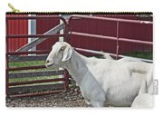 Young Old Goat White And Grayish Red Fence And Gate Barn In Close Proximity 2 9132017 Carry-all Pouch